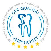 Qualitätssiegel der Kassenzahnärztlichen Vereinigung und Zahnärztekammer Westfalen Lippe